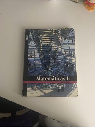 libro matemáticas II edebé