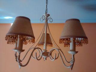 Lámparas de forja blancas