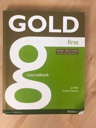 Gold first. libro inglés. Coursebook