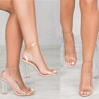 Zapatos transparentes mujer tacón estilo Jenner
