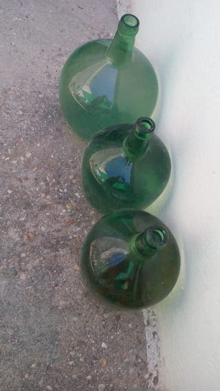 botellones VIDRIO Antiguos 60 años