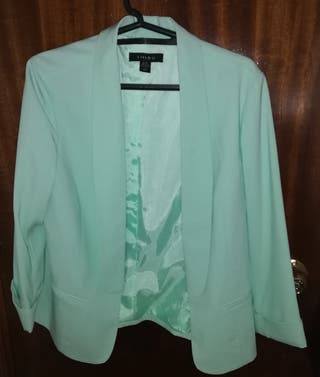 chaqueta verde menta Amisu T42