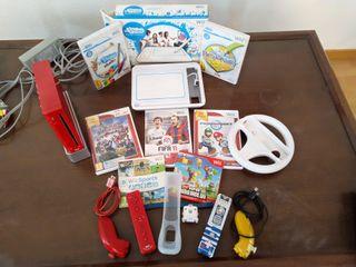 Consola Wii incluye mandos y juegos