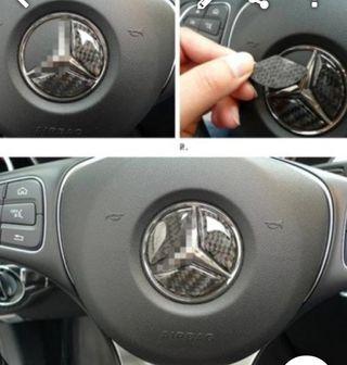 Embellecedor Centro volante Mercedes Fibra de carb