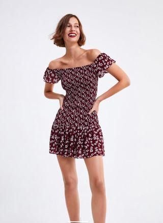 Vestido estampado floral Zara Talla S
