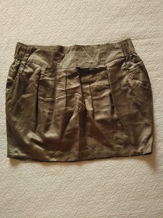 falda brillo pull&bear