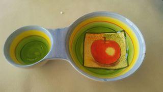 Porta cucharas ceramica - salsera