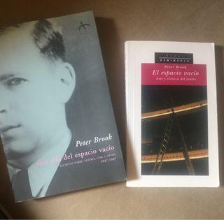 Pack libros Peter Brook El espacio vacío