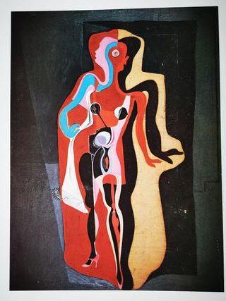 Lámina Mujer maniquí de Barcelona de Salvador Dali