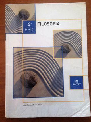 Libro texto FILOSOFÍA, 4º ESO, Editex