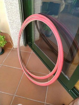ruedas bici rojas marca kenda