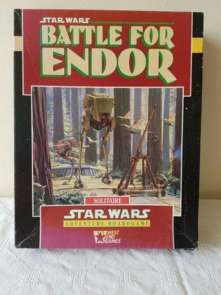 Juego guerra Battle Endor mesa Star Wars WEG