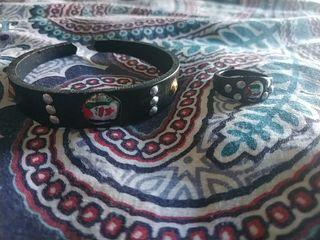 Conjunto pulsera + anillo Sáhara artesanal nuevos