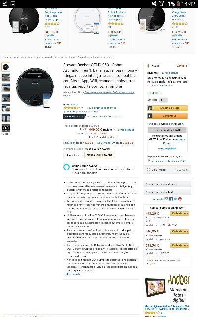 Ecovacs Deebot OZMO 930 a estrenar, nuevo