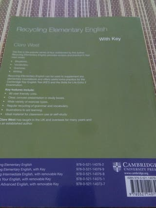 libro Cambrige Recycling Elementary English
