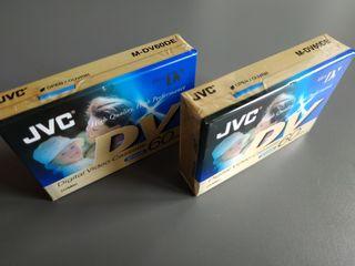 2 Cintas de MiniDV de JVC, NUEVO SIN ABRIR