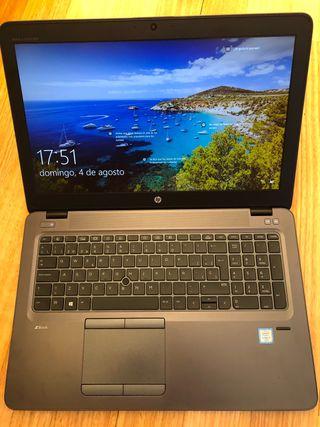 Portatil HP Workstation I7 (6500U) + SSD (512GB)