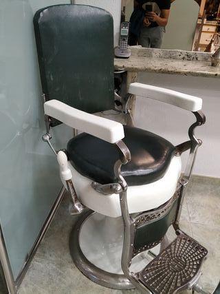 sillón barbero antiguo
