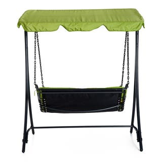 Outsunny Swing Chair Bed Canopy 2 Person Double Ha