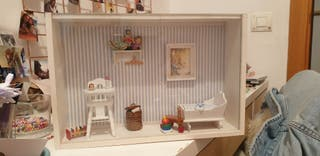 caja cristal cuadro decoración cuarto bebé