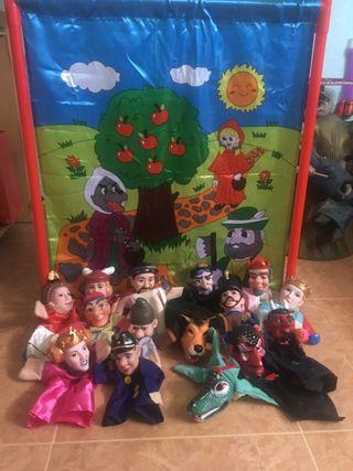 Teatro con marionetas.