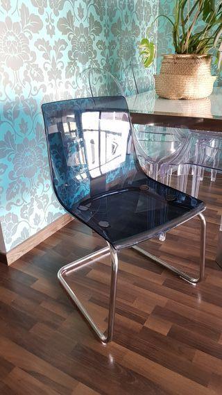 Silla TOBIAS Azul IKEA Nueva