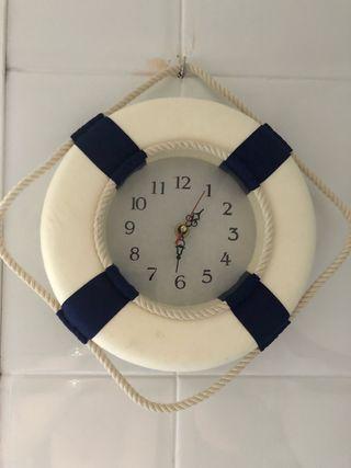 Reloj pared flotador salvavidas