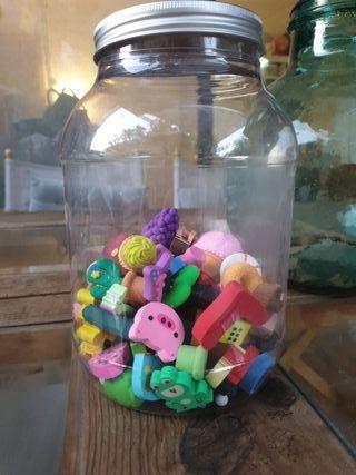 colección 80 gomas de borrar