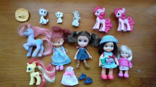 lote de muñecas, little pony, Simba, famosa