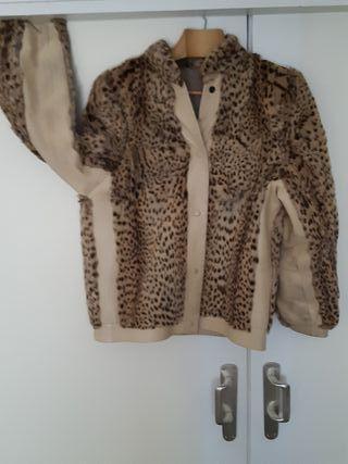 Cazadora guepardo cuero