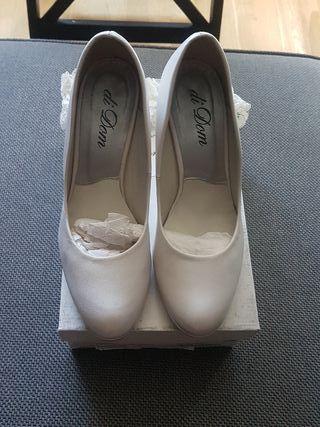 zapato de novia piel Nuevos