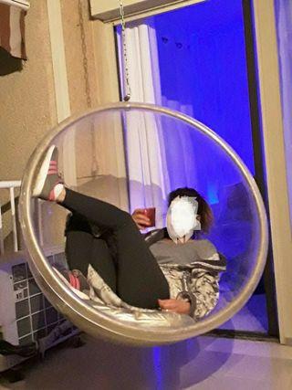silla bubble, sillon suspendido