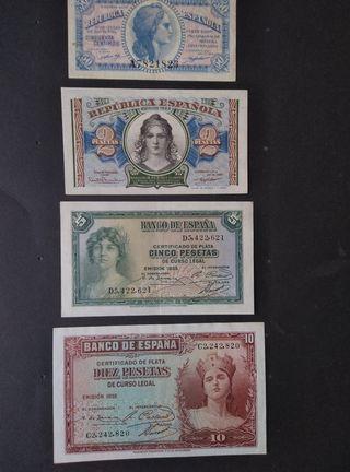 Lote billetes República Española.