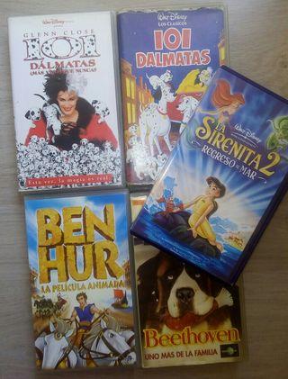 Lote películas infantiles Disney. VHS