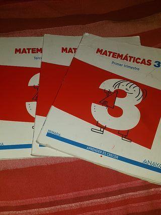 libros matematicas 3 primaria Anaya