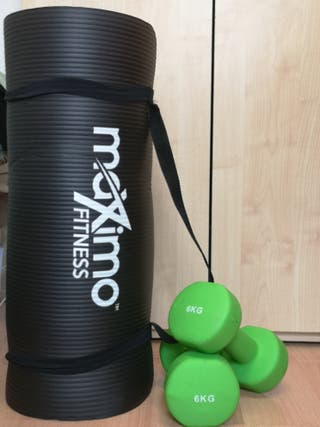 Fitness Mat and pack of Dumbbells