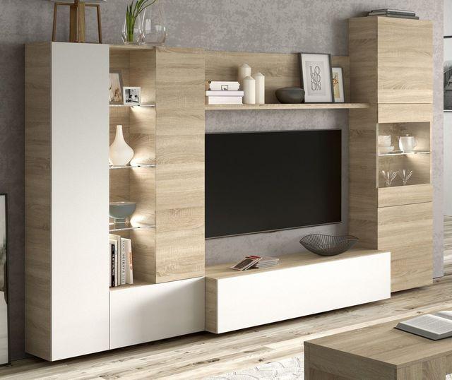 Pack mobiliario salon comedor con luz LED mueble de segunda mano por ...