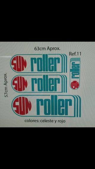 Adhesivos en vinilo caravana Sun Roller