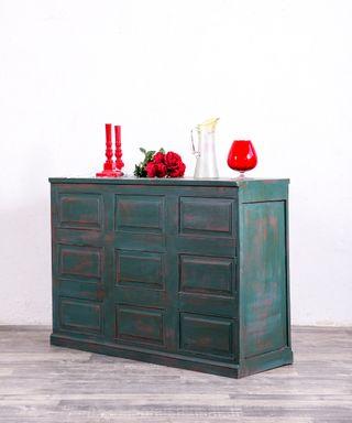 Mueble Auxiliar Industrial Restaurado El Toboso