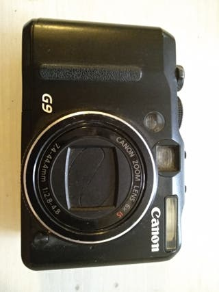 Canon PoweShot G9 compacta ideal para viajes.