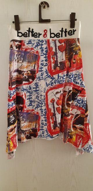Falda desigual talla M