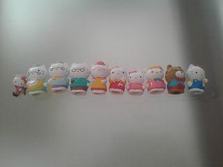 Muñecos goma Hello Kitty, pequeños
