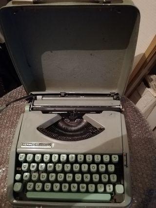 Máquina escribir Hermes Baby portátil