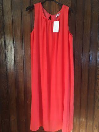 Vestido T 46 color coral Viriato