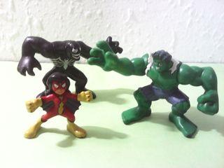 Marvel Super Hero Squad lote de 3 figuras