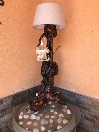 Lámpara artesana