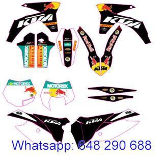 KIT ADHESIVOS KTM 2012-13 EXC, XC, XCF