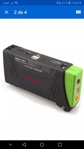 batería auxiliar + arrancador coche