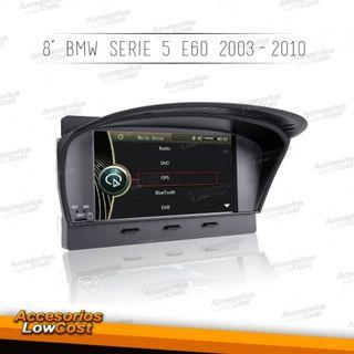 """NAVEGADOR ESPECÍFICO DE 8"""" TÁCTIL HD BMW E60 03-10"""