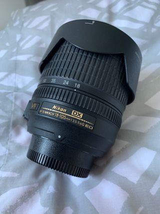 Nikon lens - 18-105mm - excellent condition
